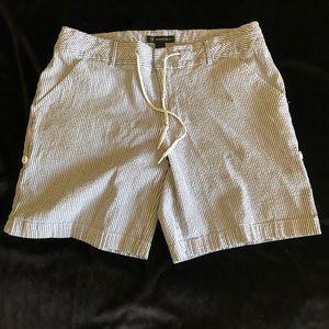 INC sear sucker shorts.